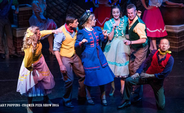 Mary Poppins, Cromer Pier Show, Summer 2015, North Norfolk, Musicals
