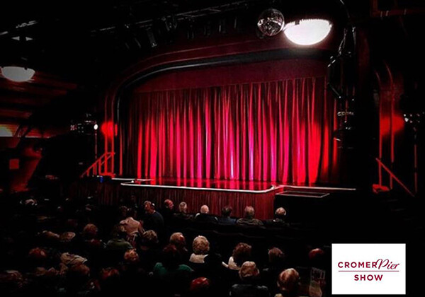 Cromer Pier Pavilion theatre full audience stage view