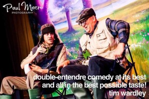 Comedian Steve Terry and the man they call G performing at the Cromer Pier Show